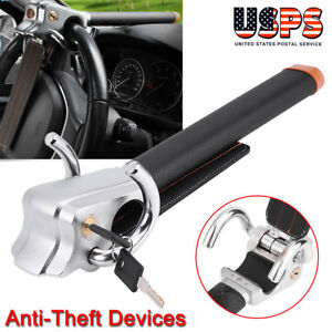 Auto Car Anti Theft Security Rotary Steering Wheel Lock Top Mount Universal Us