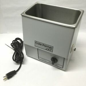 Cole Parmer 08895 18 Ultrasonic Cleaner Stainless Steel 1 Gal 60 Min 220vac