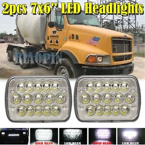 2pcs Cree Led Headlights Sealed Beam Headlamp Fit For Ford Sterling Lt9513 Truck