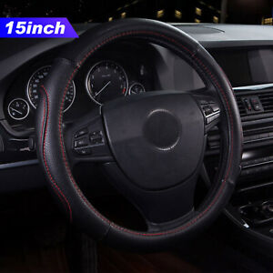 15 Pu Leather Car Truck Steering Wheel Cover Universal Fit Protection M Black