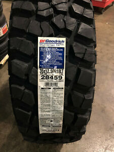 4 New Lt 35 12 50 18 Lrd 8 Ply Bfgoodrich Mud Terrain T a Km2 Mud Tires