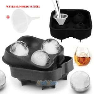 Ice Balls Maker Round Sphere Tray Mold Cube Whiskey Ball Silicone water Funnel