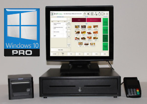 Pizza Point Of Sale System Integrated Credit Card Terminal