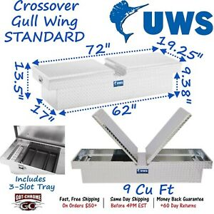 Tb 72 Uws Aluminum Truck Crossover Toolbox Gullwing Double Lid