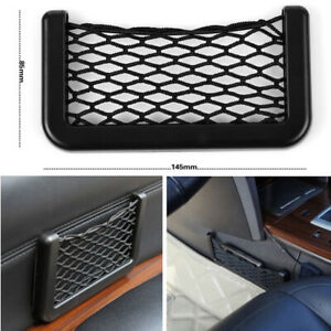1x Auto Car Interior Body Edge Elastic Net Storage Phone Holder Accessories