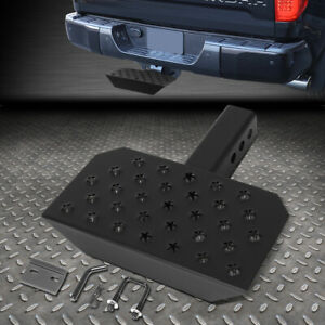 Universal 2 Receiver Trailer Tow Towing Rear Hitch Step Nerf Bar Bumper Guard