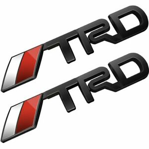 2x Trd Emblem Stickers Decals Badge For Cruiser Tundra Deselen Lp Bs09 Toyota