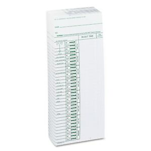 Acroprint Time Card For Model Att310 Electronic Totalizing Time Recorder Weekly