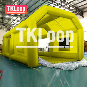 26x13x10ft From California Inflatable Spray Booth Custom Yellow Tent Car Paint