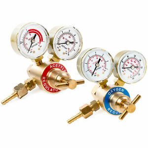 Solid Brass Replacement Oxygen Acetylene Regulator Gauge For Victor Style Kit
