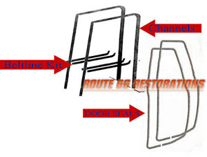Chevy Gmc Truck Door Seals Door Glass Weatherstrips Beltlines Channels 73 80