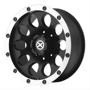16 Inch 16x8 Atx Series Ax186 Slot Black Machined Wheel Rim 5x150 0