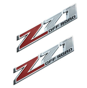 2x 10 Inch Z71 Off Road Emblems 3d Badges Decals Sticker For Gmc Chevy Silverado