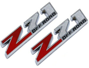 2pcs Small Size Z71 Off Road Emblems 3d Decal Emblems For Gmc Chevy