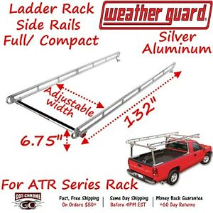 1211 Weather Guard Atr 1200 Side Rails For Compact Truck Bed Ladder Rack