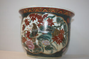Chinese Planter China Porcelain Vintage Hand Painted Planter