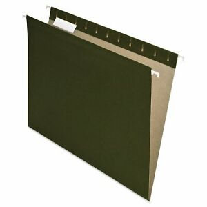 Pendaflex Earthwise Recycled Colored Hanging File Folders 1 5 Tab Letter Green
