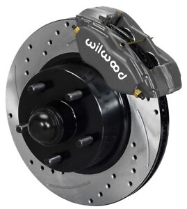 Wilwood Disc Brake Kit front 65 69 Ford mercury 11 3 Drilled Rotors lines pads