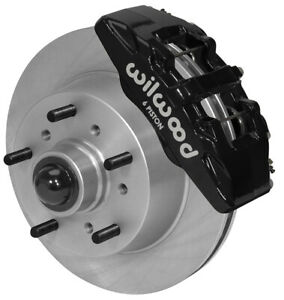 Wilwood Disc Brake Kit Front 68 72 Ford F 100 Truck 11 75 Rotors Black Calipers