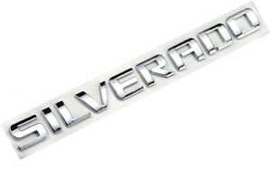 1x Oem Silverado Emblems 3d Letters Badge Sticker For Chevrolet Silverado 1500