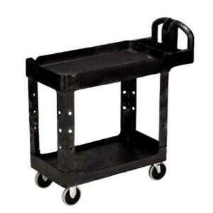Rubbermaid Fg452088bla 45 1 4 In X 25 7 8 In Black Utility Cart