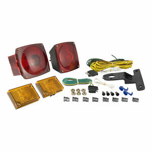 53540 Curt Utility Trailer Tail Marker Light Kit With Wiring