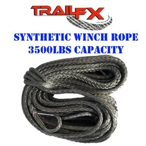 Wa028 Trail Fx Recovery Synthetic Winch Cable Rope 3500 Lbs 50 Atv Utv Winches