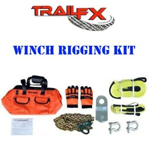 Wa014 Trail Fx Recovery Winch Rigging Accessory Kit With Gear Bag