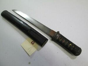 Old Samurai High Quality Japanese Dagger Tanto Sword Knife With Scabbard L314