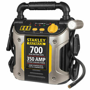 Portable Jump Starter 700 Amp With Air Compressor Car Truck Rv Jumper Box New