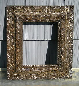 Antique Aesthetic Victorian Elaborate Aged Silver Finish Picture Frame 8 X 10