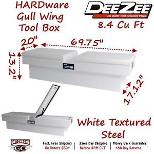 Dz8370s Dee Zee Steel Truck Crossover Tool Box Gullwing Double Lid White