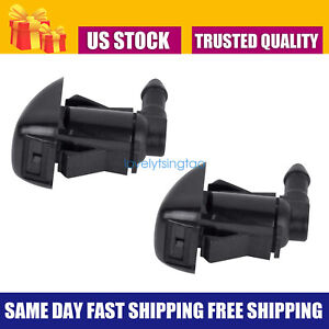 2pcs Windshield Washer Water Nozzle Spray Fits 2008 2012 Chevrolet Malibu New