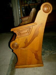 58 Wide Beautiful Antique Church Pew 125 Yrs Old Nice O
