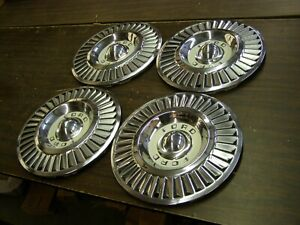 Oem Ford 1957 Thunderbird Fairlane Wheel Covers 14 Hub Caps Nos
