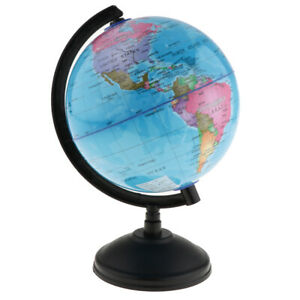 14cm Student World Globe Earth Map With Geography Atlas Ocean National Blue