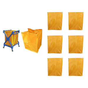 6pcs Waterproof Oxford Nylon Cleaning Janitorial Cart Replacement Cart Bags