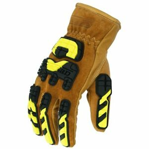 Medium Tan Work Gloves Ironclad Limitless High Durability Abrasion Resistance
