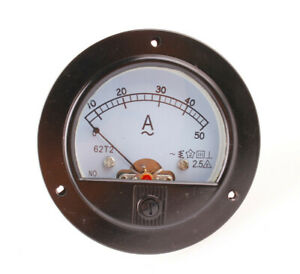 Us Stock Ac 0 50a Analog Amp Current Panel Meter Ammeter Current Transformer