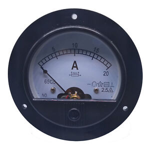 Us Stock Dc 0 20a Analog Amp Current Pointer Needle Panel Meter Ammeter Shunt