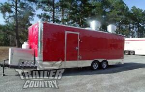 New 8 5 X 24 Enclosed Mobile Kitchen Tail Gate Food Vending Concession Trailer