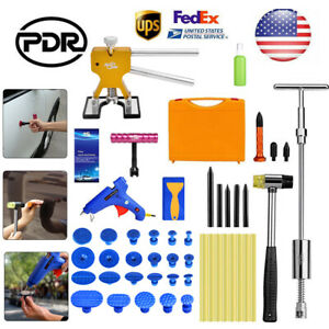 Us Pdr Paintless Dent Repair Puller Lifter Slide Hammer Glue Tools Removal Kit