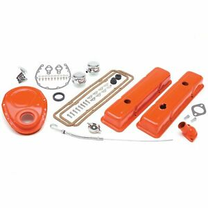 Trans Dapt 3051 Orange Engine Dress up Kit Chevy 283 400 With Pcv Includes Pcv