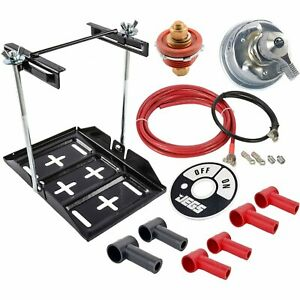 Jegs 10215k Steel Battery Tray Cutoff Kit Includes 1 Battery Tray 2 Remot