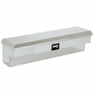 Lund 9748 Side Mount Tool Box Single Lid Brite Diamond Plate Length 48 Width 8