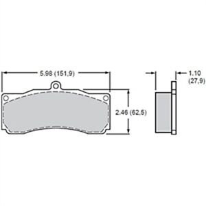 Wilwood 15h 8115k B Polymatrix H Bedded Brake Pads Calipers Ap Alcon Thickness