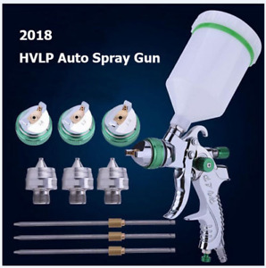 New 2018 Hvlp Auto Paint Air Spray Gun Kit Gravity Feed Car Primer