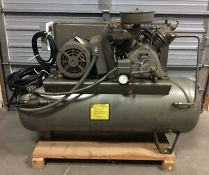 Worthington Air Compressor 1 phase 230v 60hz 5hp 1750rpm Horizontal Stationary