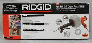 nib Ridgid Hand held Drain Cleaner With Autofeed Model K 45af