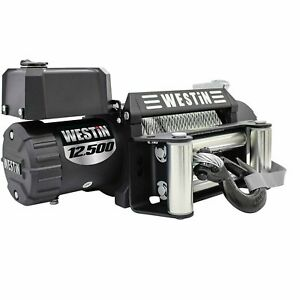 Westin 47 2106 Off Road Series Winch 12500lbs Line Pull 6 6 Hp Motor 3 8 Steel R
